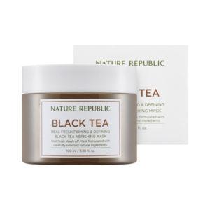 питательная маска с экстрактом черного чая