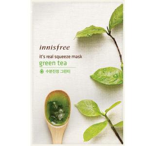 тканевая маска с экстрактом зеленого чая innisfree