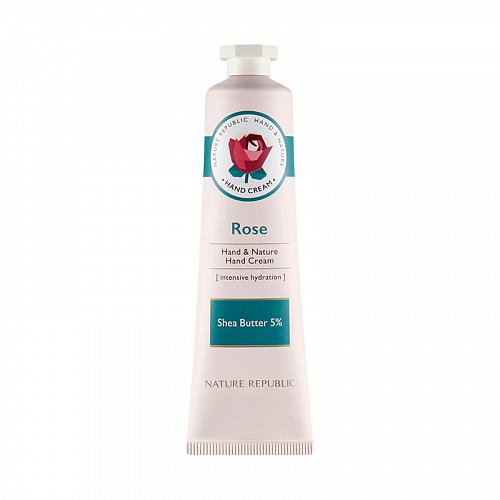 Питательный крем для рук (ROSE) Nature Republic